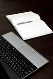 Laptop and notebook Royalty Free Stock Photography