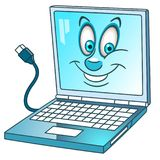 Cartoon laptop or notebook computer Stock Images