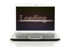 Laptop / Notebook Computer With Loading Message Royalty Free Stock Photography