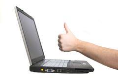 Laptop notitieboekje dat op wh wordt geïsoleerdn Stock Foto's