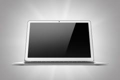 Laptop odizolowywający na szarym tle Obrazy Stock