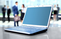 Laptop on office desk Royalty Free Stock Photography