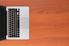Laptop on Office Table stock photos