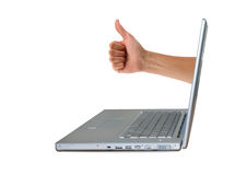Laptop OK! Stock Photo