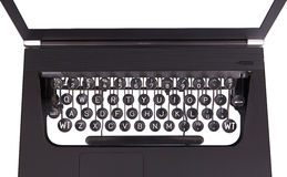 Laptop with old fashioned typewriter keys Royalty Free Stock Image