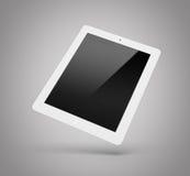 Laptop op een grijze achtergrond wordt geïsoleerd die Stock Foto's