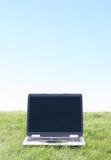 Laptop op Gras stock foto's