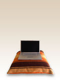 Laptop op Hoofdkussen Stock Afbeelding