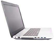 Laptop op wit Stock Fotografie
