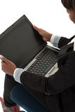 Laptop open royalty free stock photography