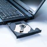 Laptop with an open tray Royalty Free Stock Photo