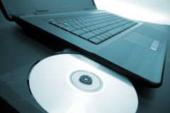 Laptop optical drive Royalty Free Stock Image