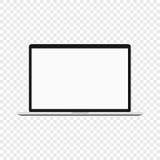 Laptop Ordenador moderno en fondo transparente libre illustration