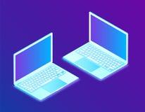 Laptop Ordenador portátil isométrico Creado para el móvil, web, decoración, productos de la impresión, uso Perfeccione para el di libre illustration