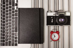 Laptop and orginizer Royalty Free Stock Images