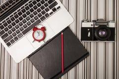 Laptop and orginizer Stock Photo