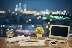 Laptop and other items Royalty Free Stock Photo