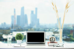 Laptop and other objects Stock Image