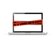 Laptop out of service. illustration concept design Royalty Free Stock Photography