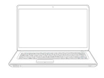 Laptop outline Stock Image
