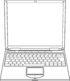 Laptop outline vector illustration Royalty Free Stock Image