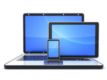 Laptop and pad Stock Images
