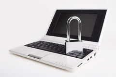 Laptop with the padlock Stock Image