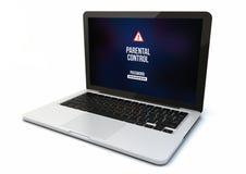 Laptop parental control Stock Images
