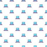 Laptop pattern, cartoon style. Laptop pattern. Cartoon illustration of laptop vector pattern for web Royalty Free Stock Images
