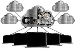 Laptop Pc With Cloud Computing Symbol Royalty Free Stock Images