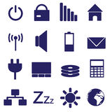 Laptop and pc indication icons eps10. Blue laptop and pc indication icons eps10 Vector Illustration