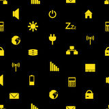 Laptop and pc indication icons pattern eps10. Yellow laptop and pc indication icons pattern eps10 Vector Illustration