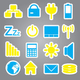 Laptop and pc indication stickers eps10 Royalty Free Stock Images