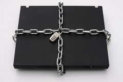 Laptop PC Securely Locked Stock Image