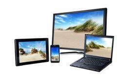 Laptop, pc, smart phone Stock Photos