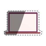 Laptop pc technology. Icon  illustration graphic design Stock Image