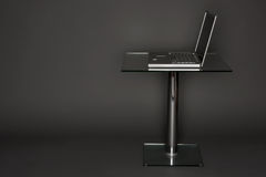 Laptop on a Pedestal Stock Images