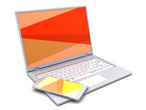 Laptop and phone Stock Images