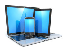 Laptop, phone and PDA Royalty Free Stock Photo
