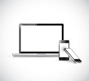 Laptop and phones. illustration design Royalty Free Stock Photography