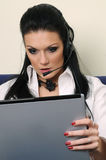 laptop piękna kobieta Fotografia Stock