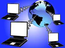 Laptop planet Stock Images