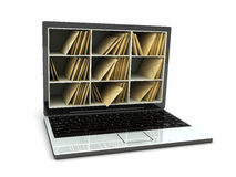 Laptop post. Abstract laptop post (done in 3d, isolated Stock Image
