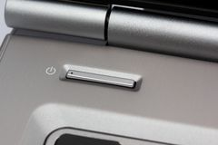 Laptop Power Button Royalty Free Stock Photography