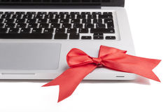 Laptop Present Royalty Free Stock Images