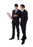Laptop presentatie Royalty-vrije Stock Foto's