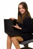 Laptop presentatie Stock Afbeelding
