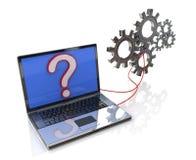 Laptop with process software Stock Photos
