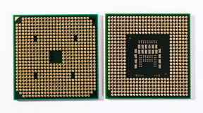 Laptop processors Stock Photo