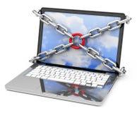 Laptop protection Stock Photo